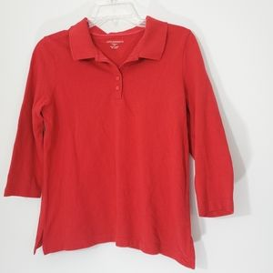 Appleseeds Red Longsleeve Polo Size PS